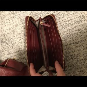 Michael Kors Bags - Michael Kors burgundy quilted leather wallet